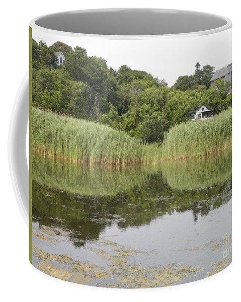 Rockport Coffee Mug featuring the photograph Rockport Reeds And Reflections by Gina Sullivan