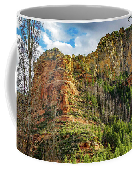 Sedona Coffee Mug featuring the photograph Rocks And Pines by Will Wagner