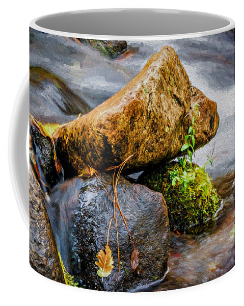 Creek Coffee Mug featuring the photograph Rocks In The Creek by Maria Coulson
