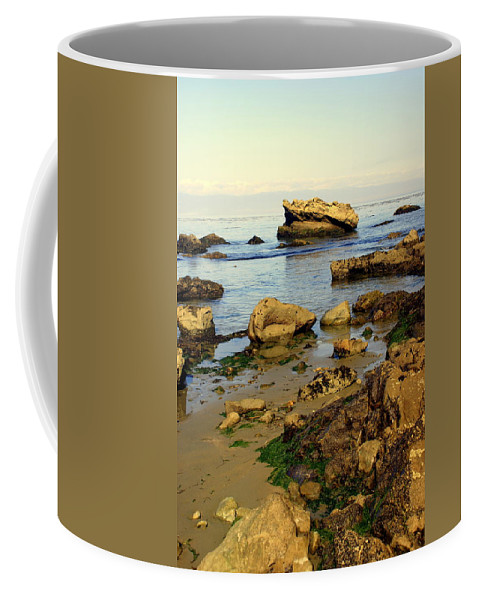 Beach Coffee Mug featuring the photograph Rocky Beach by Marty Koch