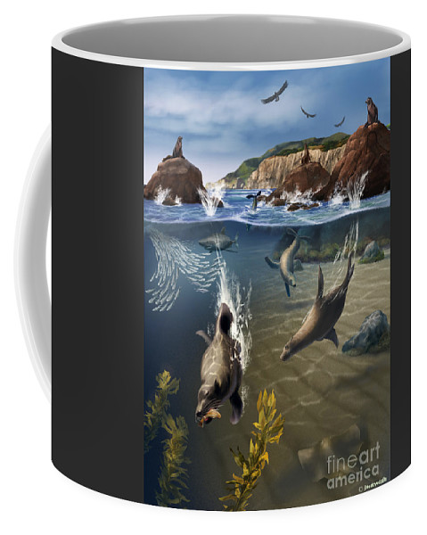 Rocky Shore Coffee Mug featuring the photograph Rocky California Shore by Jim Dowdalls