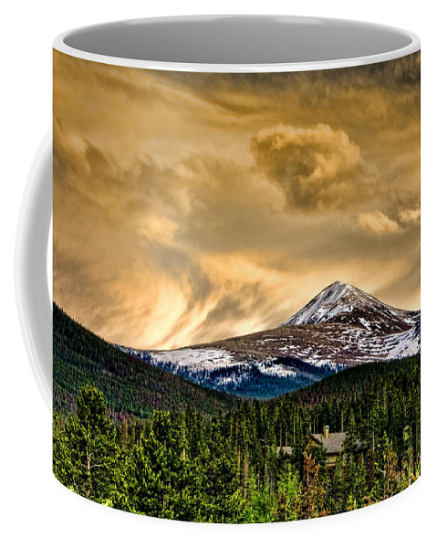Mountains Coffee Mug featuring the photograph Rocky by Ches Black