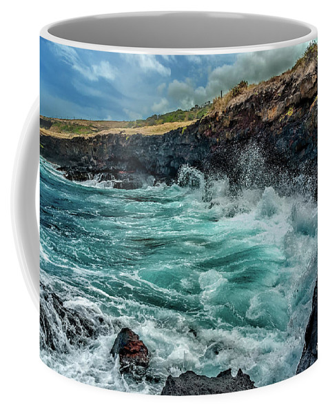 Hawaii Coffee Mug featuring the photograph Rocky Coast by Christopher Holmes