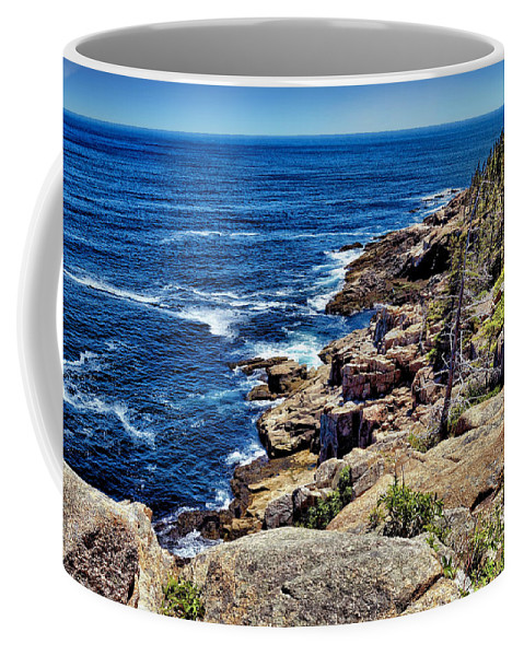 Water Coffee Mug featuring the photograph Rocky Coastline 1 by John Trommer