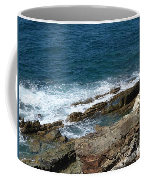 Caribbean Coffee Mug featuring the photograph Rocky Coastline by Margaret Brooks