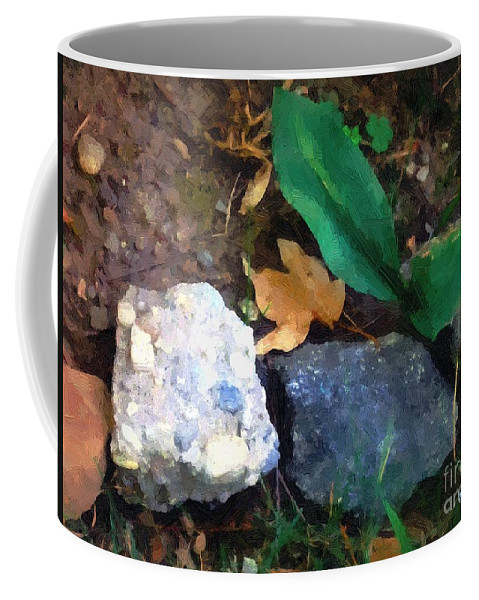 Connecticut Coffee Mug featuring the painting Rocky Ground by RC DeWinter