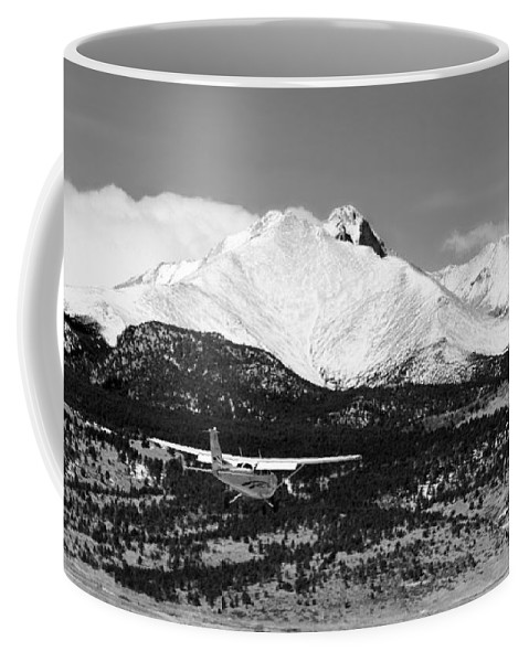 Aircraft Coffee Mug featuring the photograph Rocky Mountain Flying by James BO Insogna