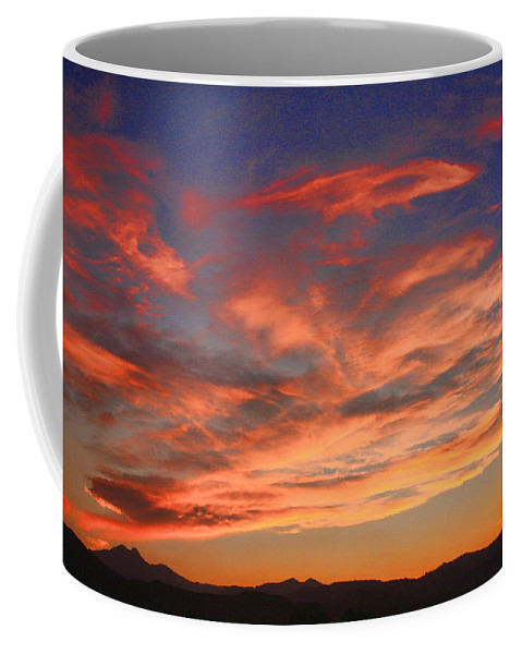twin Peaks Coffee Mug featuring the photograph Rocky Mountain Front Range Sunset by James BO Insogna