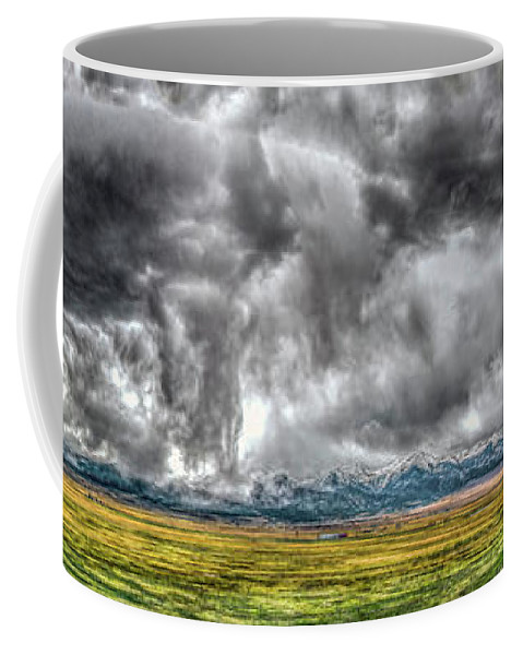 Colorado Coffee Mug featuring the photograph Rocky Mountain Panorama Hdr by Greg Reed