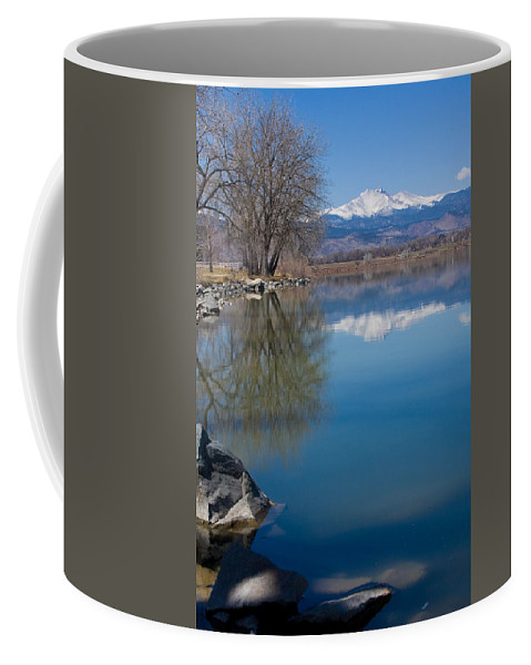 Twin Peeks Coffee Mug featuring the photograph Rocky Mountain Reflections by James BO Insogna