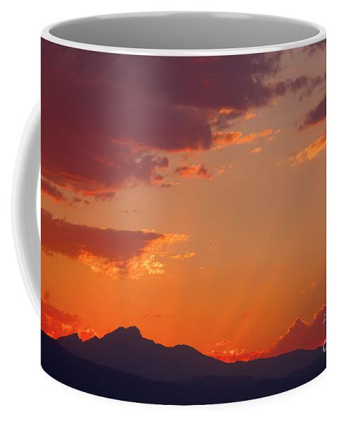 Sunset Coffee Mug featuring the photograph Rocky Mountain Religious Sunset by James BO Insogna