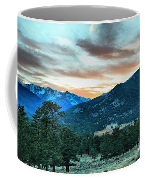 Rocky Coffee Mug featuring the photograph Rocky Mountain Sunset by Kevin Kuchler
