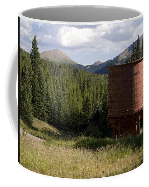 Landscape Coffee Mug featuring the photograph Rocky Mountain Water Tower by Jeffery Ball