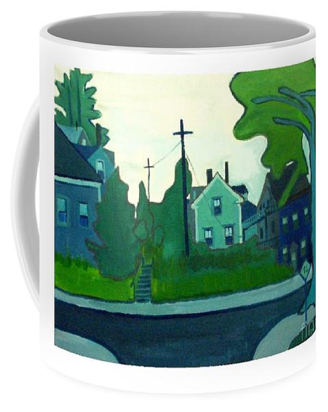 Landscape Coffee Mug featuring the painting Rocky Neck Art Colony East Gloucester Ma by Debra Bretton Robinson