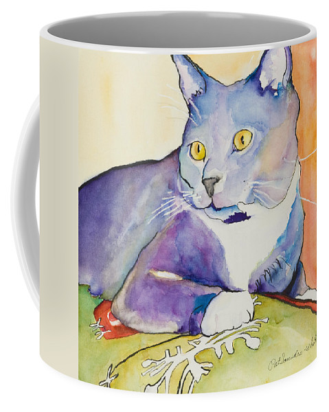 Pat Saunders-white Coffee Mug featuring the painting Rocky by Pat Saunders-White