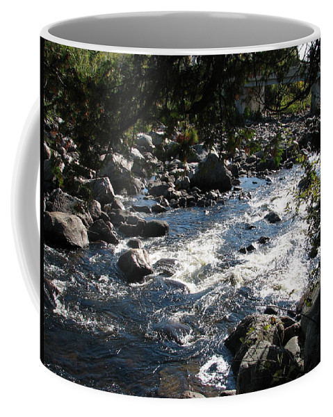 Water Coffee Mug featuring the photograph Rocky Rapids by Kelly Mezzapelle