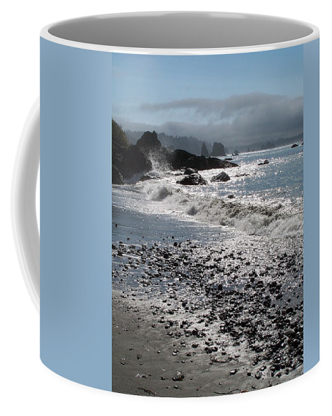 Ocean Coffee Mug featuring the photograph Rocky Shores by Gale Cochran-Smith