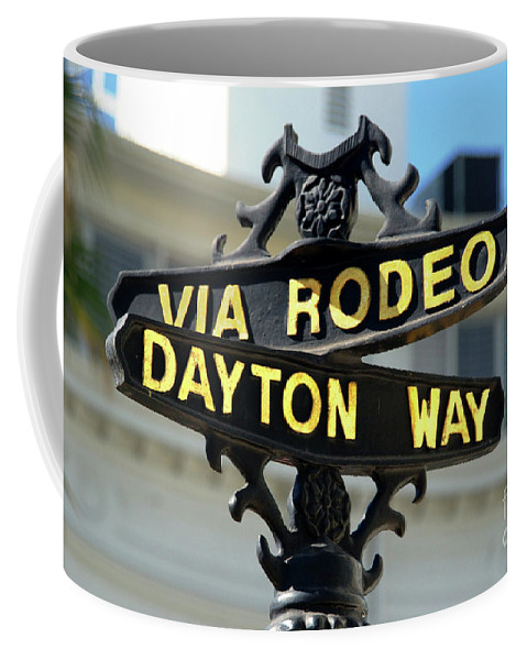 Rodeo Drive Coffee Mug featuring the photograph Rodeo Drive In Beverly Hills by Mariola Bitner