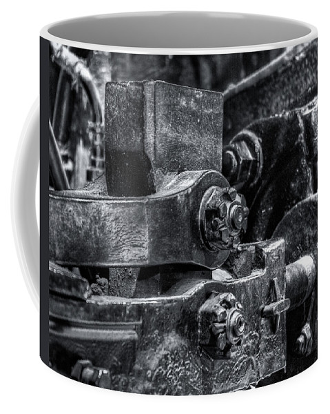 Machinery Coffee Mug featuring the photograph Rods Of Steel by Scott Wyatt