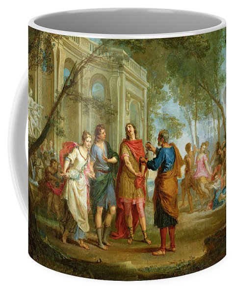 Roland Coffee Mug featuring the painting Roland Learns Of The Love Of Angelica And Medoro by Louis Galloche