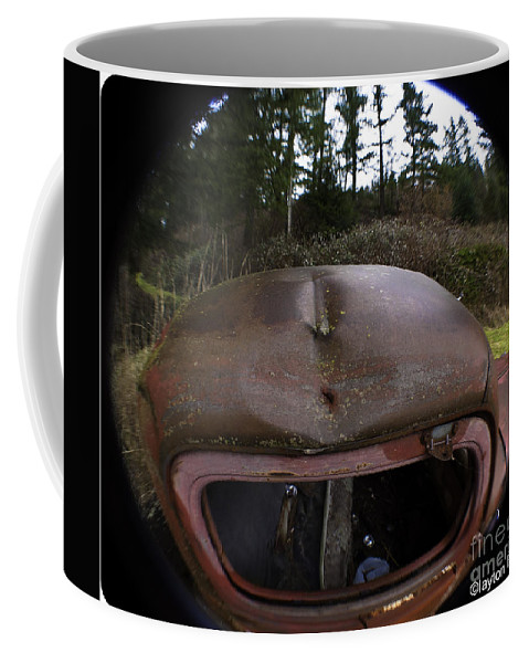 Art Coffee Mug featuring the photograph Roll Over Old Truck by Clayton Bruster