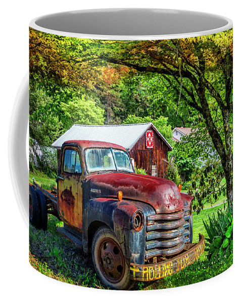 Appalachia Coffee Mug featuring the photograph Rolling For Jesus by Debra and Dave Vanderlaan