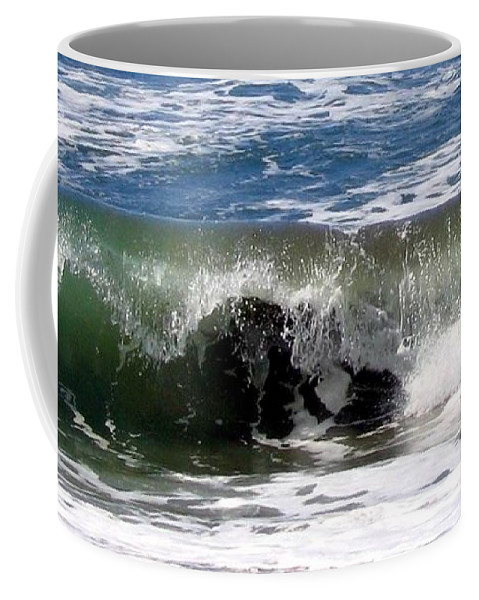 Wave Coffee Mug featuring the photograph Rolling In by Will Borden
