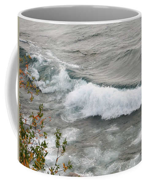 Wave Coffee Mug featuring the photograph Rolling by Kelly Mezzapelle