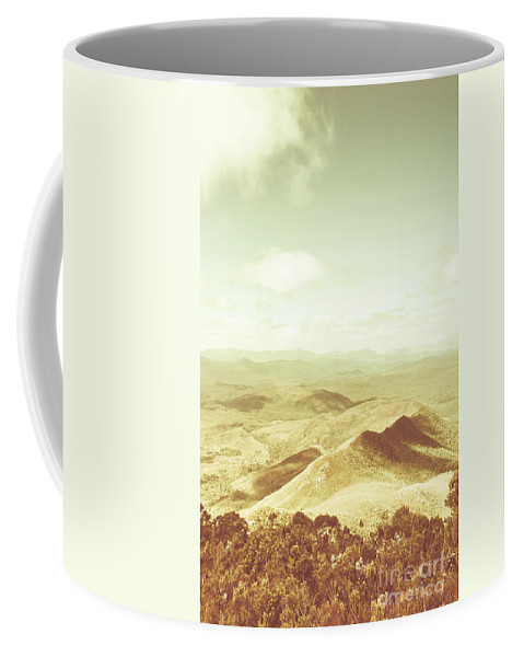 Pastel Coffee Mug featuring the photograph Rolling Rural Hills Of Zeehan by Jorgo Photography - Wall Art Gallery