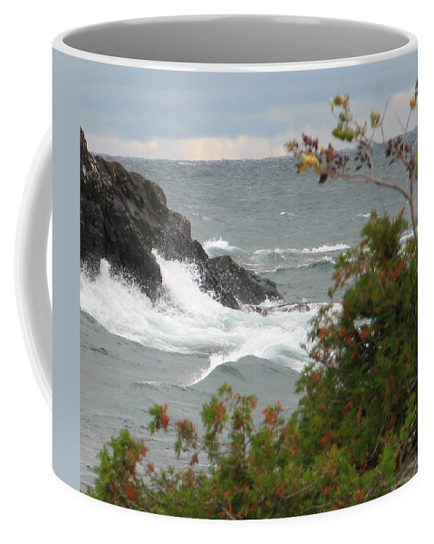 Waves Coffee Mug featuring the photograph Rolling Storm by Kelly Mezzapelle
