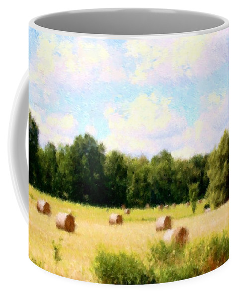 Nature Coffee Mug featuring the photograph Rolling The Hay by David Lane