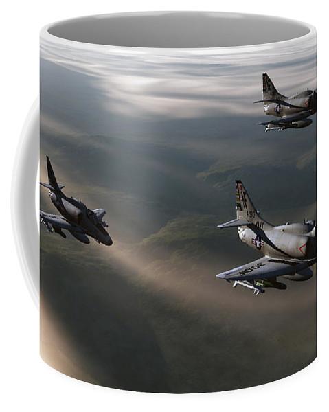 Aviation Art Coffee Mug featuring the digital art Rolling Thunder by Richard Rizzo