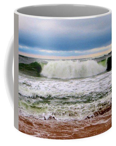 Rolling Tide Coffee Mug featuring the photograph Rolling Tide by Tim Townsend