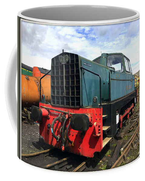 Rolls Royce Coffee Mug featuring the photograph Rolls Royce Sentinel Dl83 Diesel Shunter At The Nene Valley Railway by Gordon James