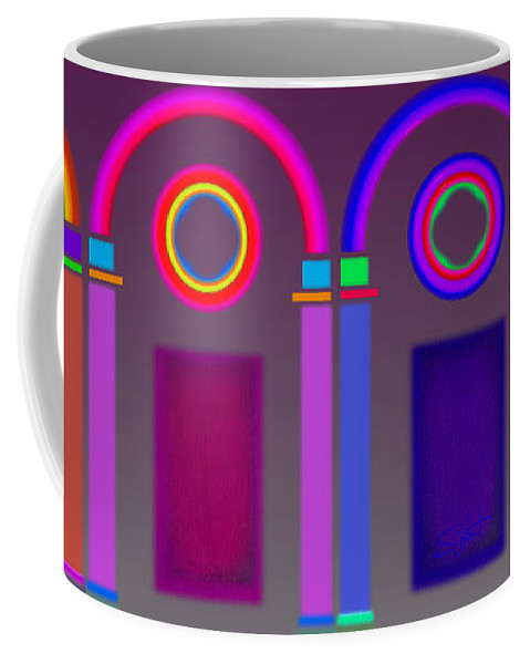 Classical Coffee Mug featuring the digital art Roman Arches by Charles Stuart