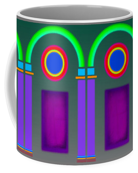 Classical Coffee Mug featuring the painting Roman Arctiecture Doors by Charles Stuart