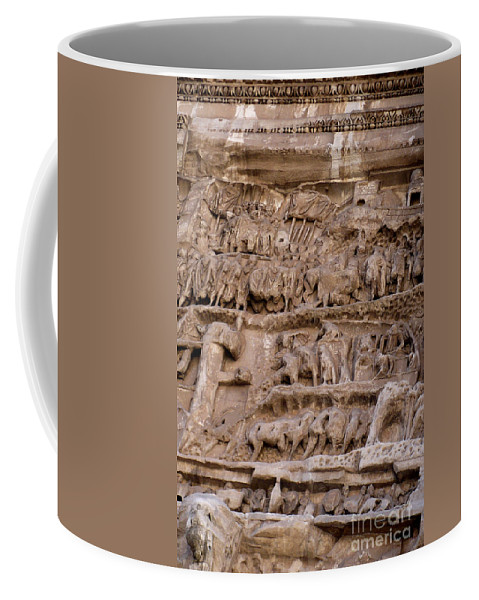 Rome Coffee Mug featuring the photograph Roman Wall by Carol Groenen