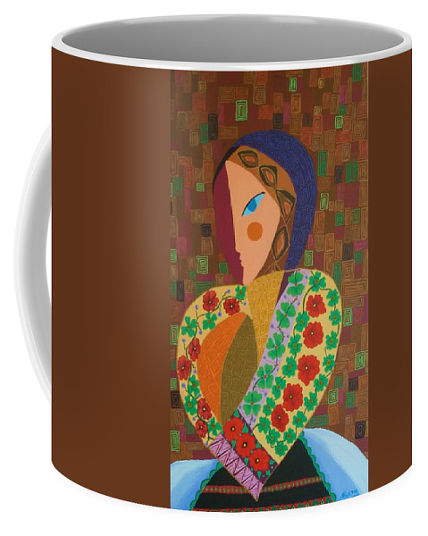 Blouse Coffee Mug featuring the painting La Blouse Roumaine by Mimi Revencu