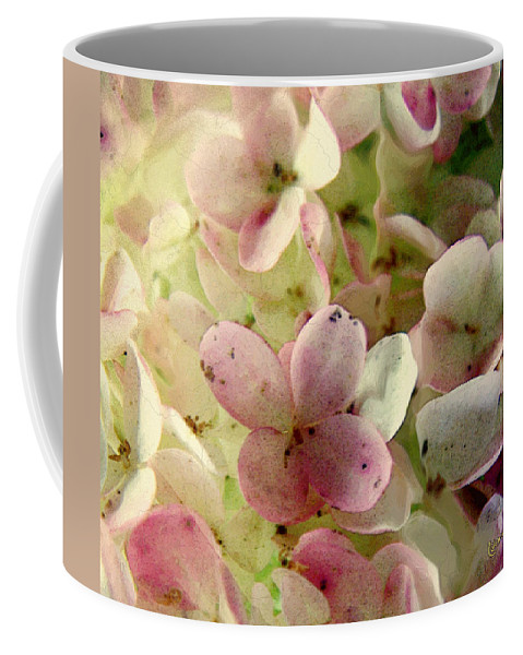 Florets Coffee Mug featuring the digital art Romance In Pink And Green by RC DeWinter