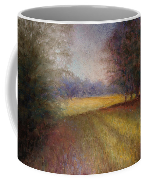 Lanscape Coffee Mug featuring the painting Romance Trail by Susan Jenkins