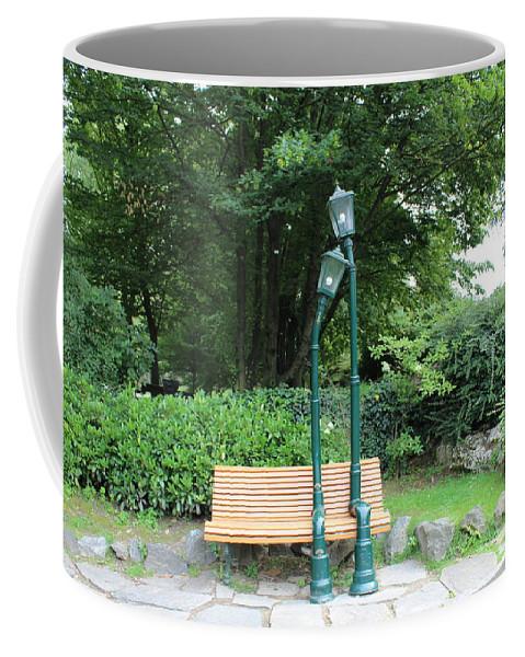 Romance Coffee Mug featuring the photograph Romantic Street Lamp by Sarah Helmy Aly