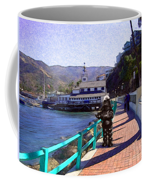 Catalina Coffee Mug featuring the digital art Romantic Stroll by Snake Jagger
