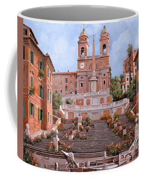 Rome Coffee Mug featuring the painting Rome-piazza Di Spagna by Guido Borelli