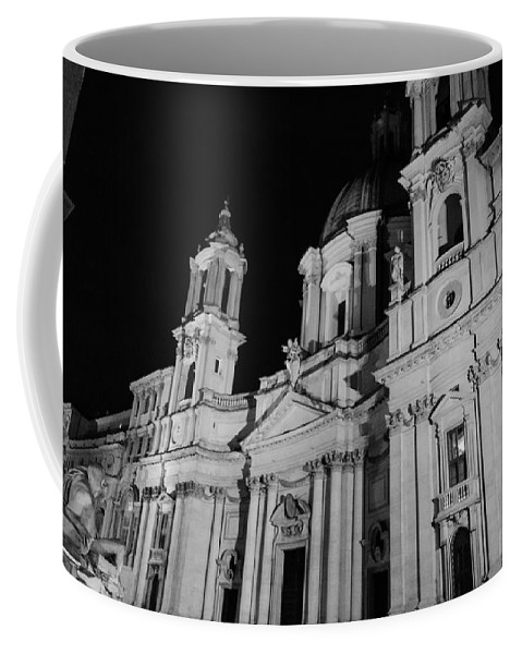 Rome Coffee Mug featuring the photograph Rome - Piazza Navona - A View 3 by Andrea Mazzocchetti