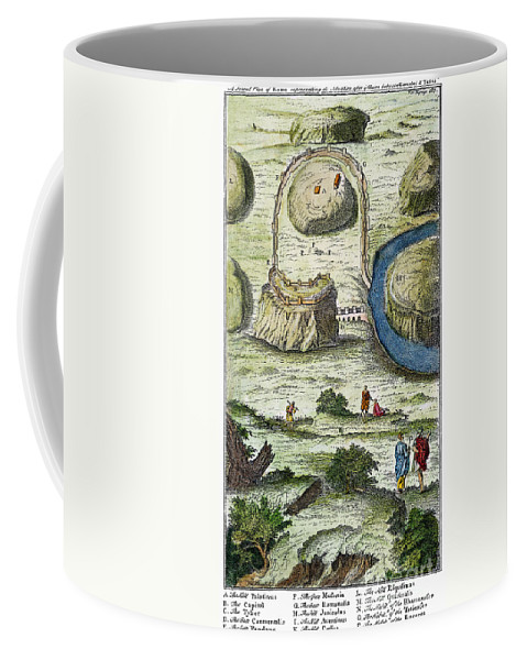 18th Century Coffee Mug featuring the photograph Rome: Seven Hills, 18th C by Granger