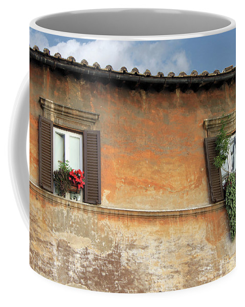Window Coffee Mug featuring the photograph Rome Windows by Munir Alawi