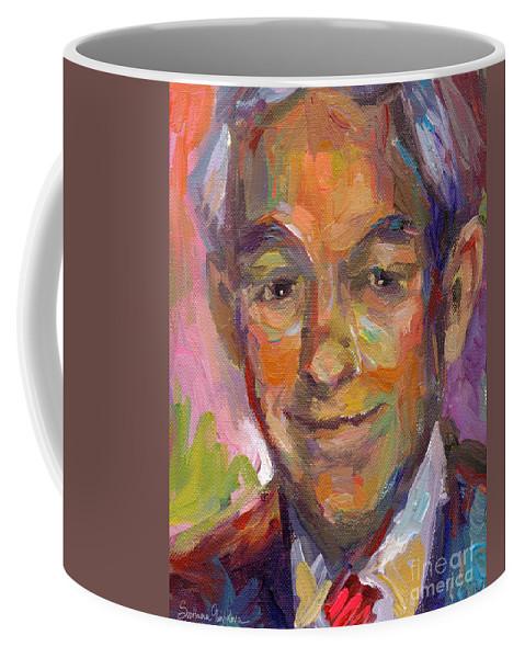 Ron Paul Painting Coffee Mug featuring the painting Ron Paul Art Impressionistic Painting by Svetlana Novikova