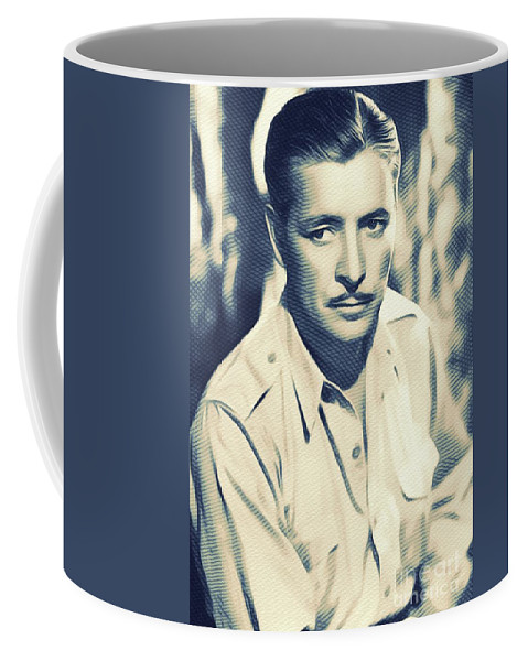 Ronald Coffee Mug featuring the digital art Ronald Colman, Hollywood Legend by John Springfield