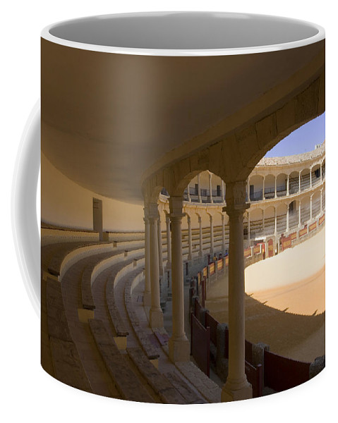 Bullfight Coffee Mug featuring the photograph Ronda Bullring The Real Maestranza De Caballeria by Mal Bray