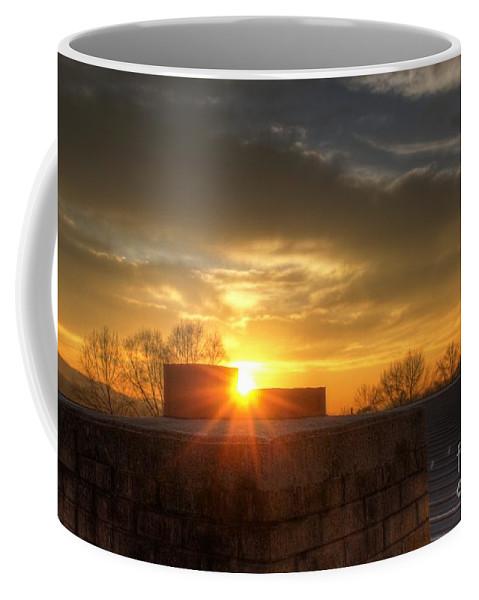 Sky Coffee Mug featuring the digital art Rooftop by Dan Stone